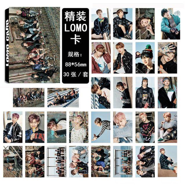 11 Estilos Kpop BTS Amar a Si Mesmo Asas Álbum Lomo Foto Auto Cartão