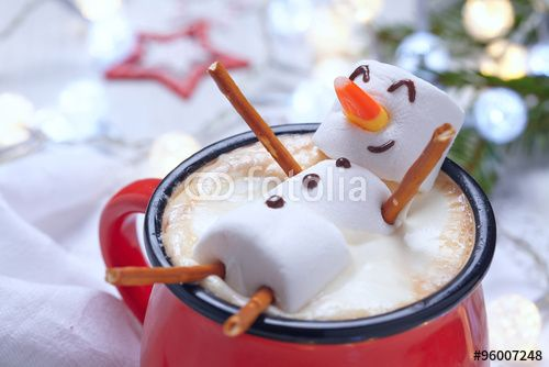 recipe for marshmellow snowman in hot chocolate - Google Search
