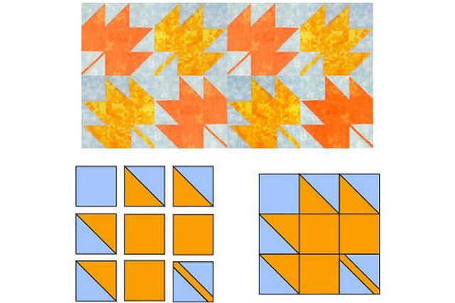 Make Patchwork Maple Leaf Quilt Blocks with this Easy Quilt Pattern: Sew a Batch of Maple Leaf Quilt Blocks