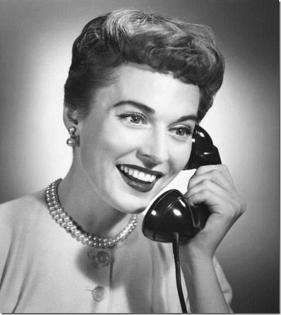 Vintage 1950s woman talking on the telephone | DSN half ...