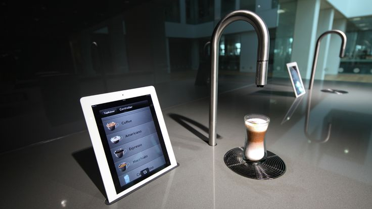 Looking to have a coffee machine with a modern touch ? Allow your Ipad pour you a cup of coffee that stuns the room #InteriorDesign #Fashion #CoffeeMachine #Espresso #Cafe #JazzMusic