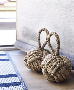 NAUTICAL decor - monkey fist -Coastal living