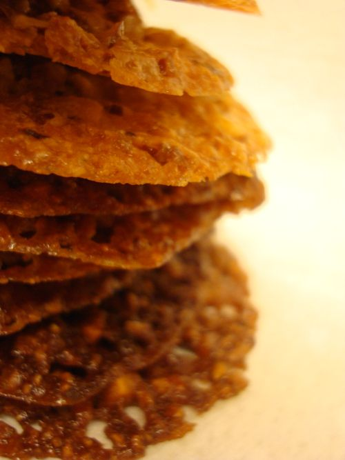 Lace cookies, Almonds and Orange on Pinterest