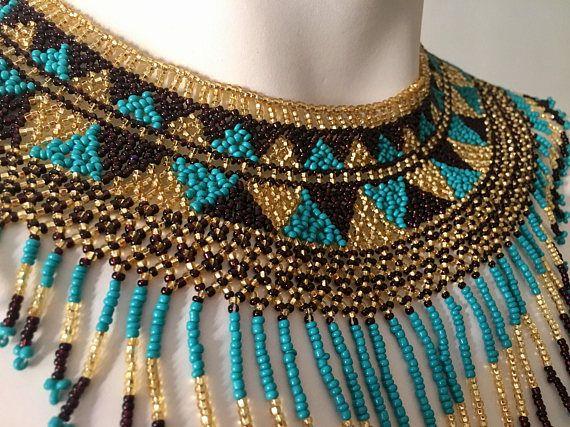 HUICHOL collar gargantilla de mexicana Handbeaded Chakira