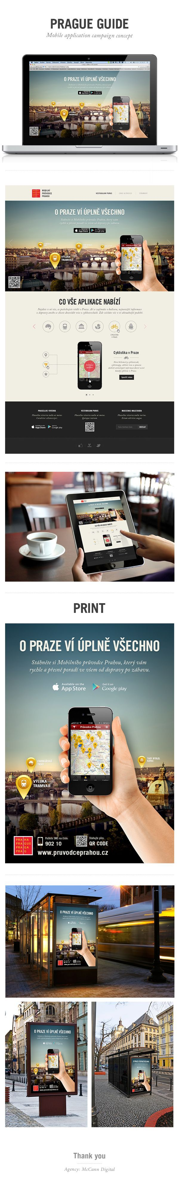 Prague Guide Website by Ond艡ej Vesel媒, via Behance