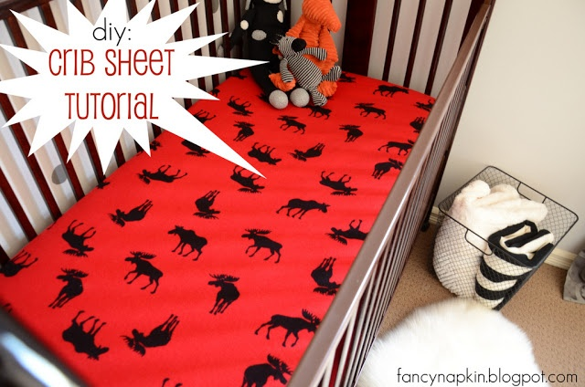 diy: crib sheet tutorial. @Jill Sawyer