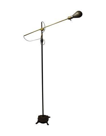 oil rubbed bronze adjustable floor lamp arc canada antique industrial with magnifier