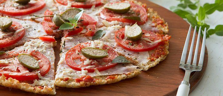 Pizza de arroz - Lucilia Diniz