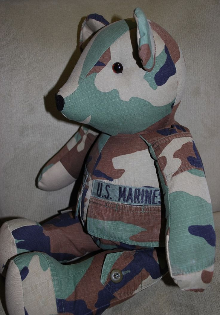 Bears In Uniform - personalized bears from old uniforms