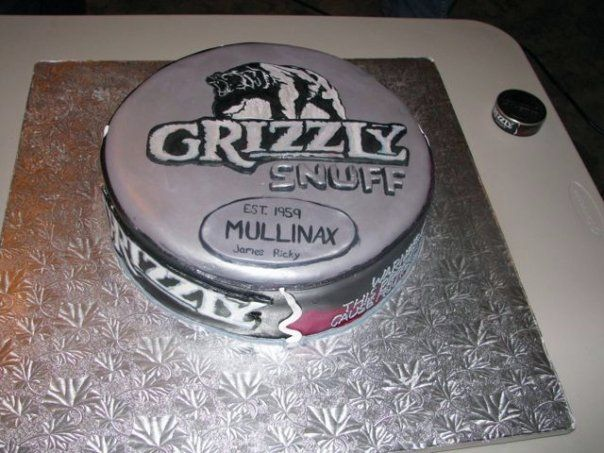 Grizzly Chew Can Cake