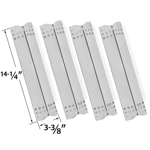 4 PACK STAINLESS STEEL HEAT SHIELD REPLACEMENT FOR DURO 780-0390, GRILL MASTER 720-0737, NEXGRILL 720-0697, UBERHAUS 780-0003, TERA GEAR 780-0390 GAS GRILL MODELS Fits Compatible Duro Models : 780-0390 Read More @http://www.grillpartszone.com/shopexd.asp?id=33589&sid=34282