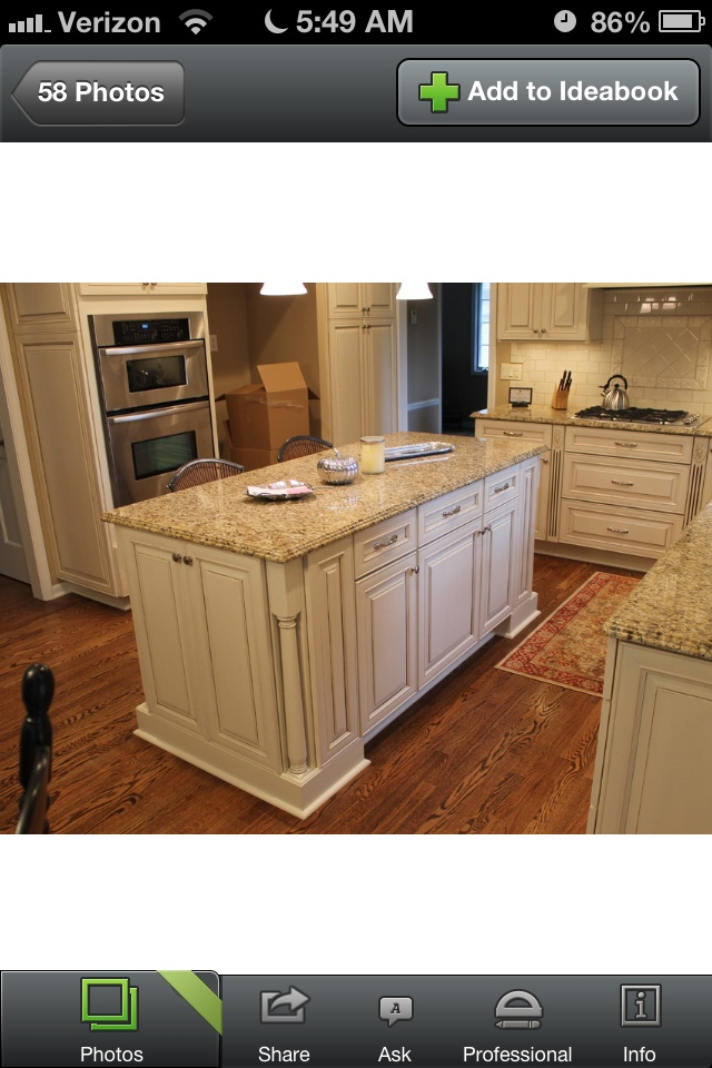 Antique white cabinets granite hardwoods for the home for Pictures of white kitchen cabinets with granite countertops