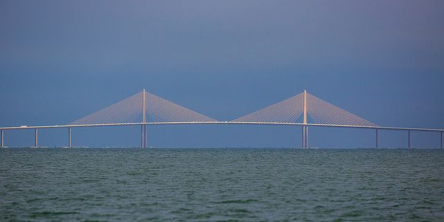 Sunshine Skyway Bridge from Egmont Key | As we were leaving … | Flickr