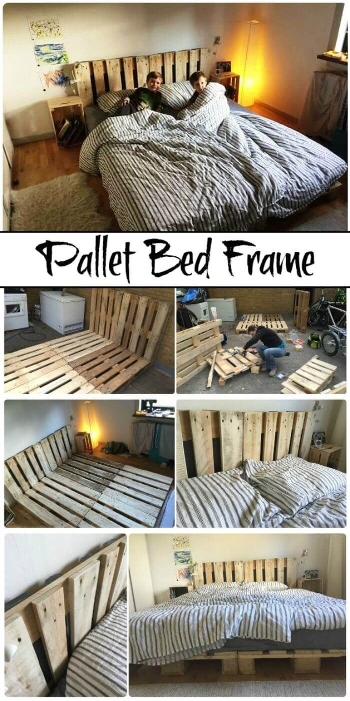 11 Diy Pallet Bed Frame Ideas With Step By Step Plans Pallet Bed Frame Diy Pallet Bed Frame Wooden Pallet Beds