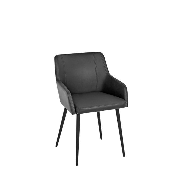Toptip Armlehnstuhl Kunstleder, schwarz Stühle Pinterest - küche schwarz weiß