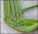 weaving a flax flower