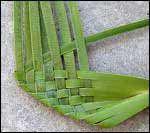weaving a flax flower