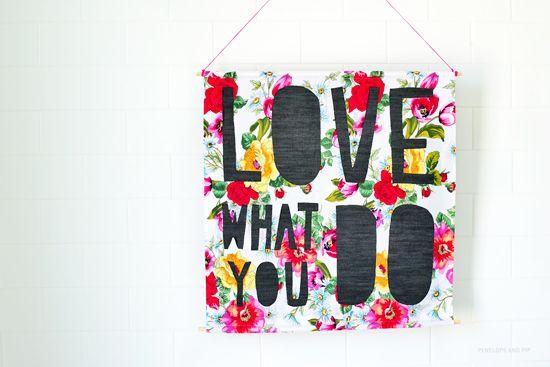 Poppytalk -  DIY: Paper Cut Inspired Wall Hanging