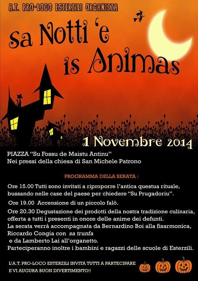 SA NOTTI E IS ANIMAS – ESTERZILI – VENERDI 31 OTTOBRE 2014