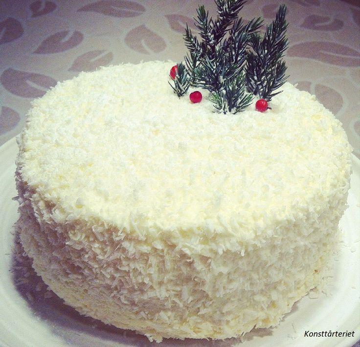 Pina colada---Coconut lemoncurd cake, Gluten Free!