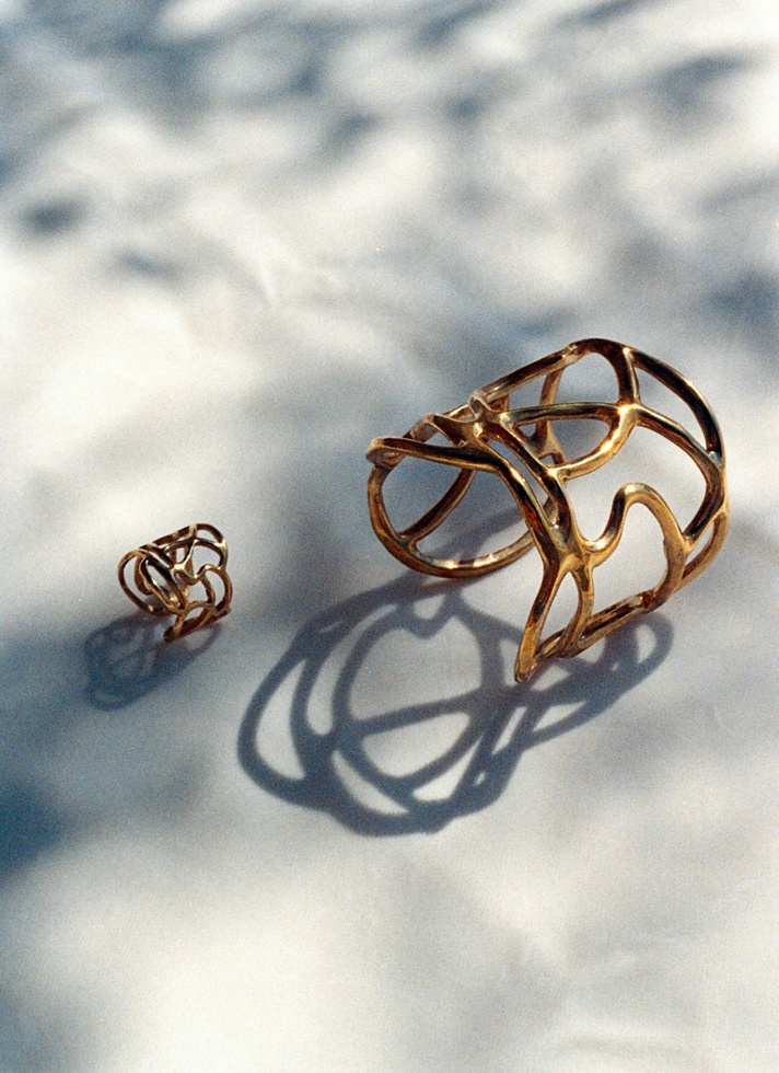 Lines Collection brass bracelet & ring !!!!  B-Tal jewellery !!