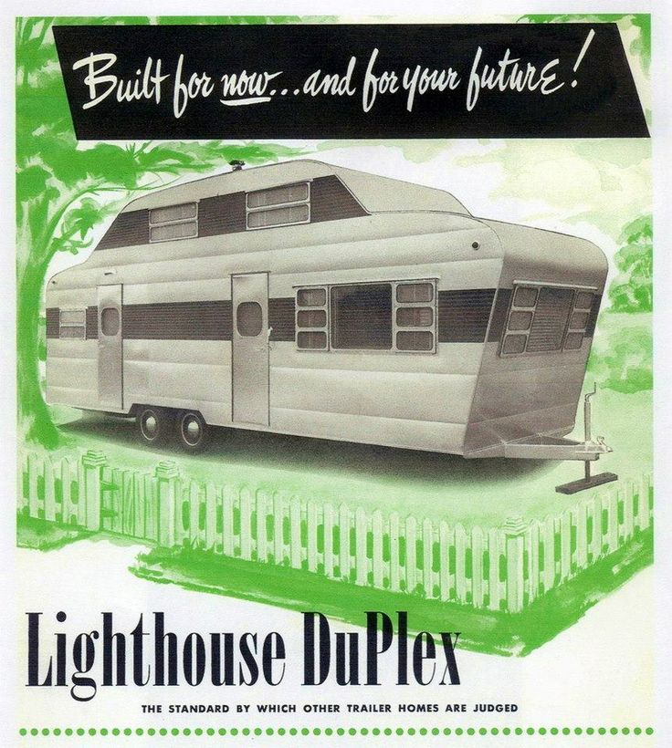 Lighthouse Duplex Vintage Trailer Ads Signs Art