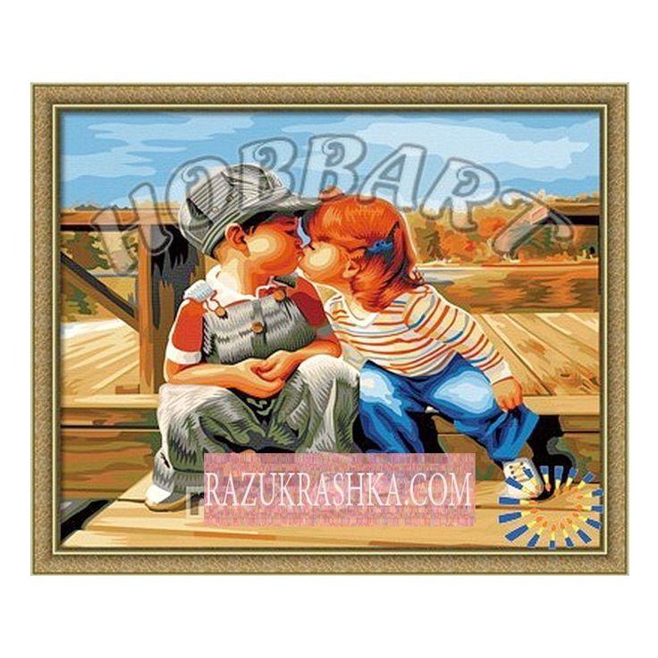 Купить Раскраска по номерам Hobbart «Робкий поцелуй ...