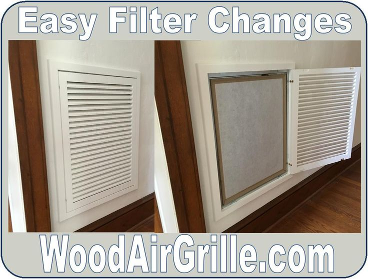 Wood Return Air Filter Grilles From WoodAirGrille.com Make Changing Filters  As Easy As Opening