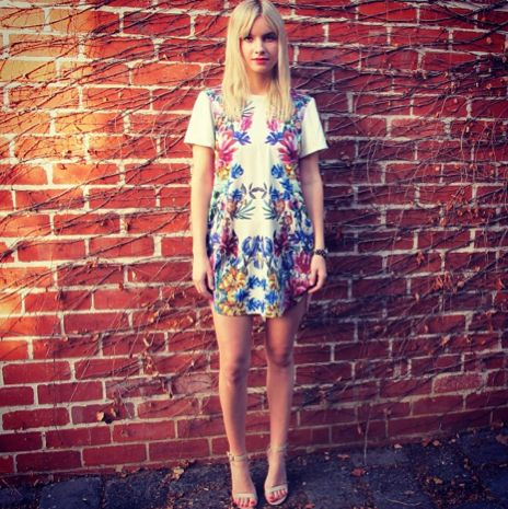 Sneak Peek | Cameo the Label's Broken Flowers SS13 range. Spotted on Melbourne blogger Tessa Jay Slight. #streetstyle #Melbourne #blogger #tessajayslight #circanow #floral #print #shift #dress #fashion #hermanstore