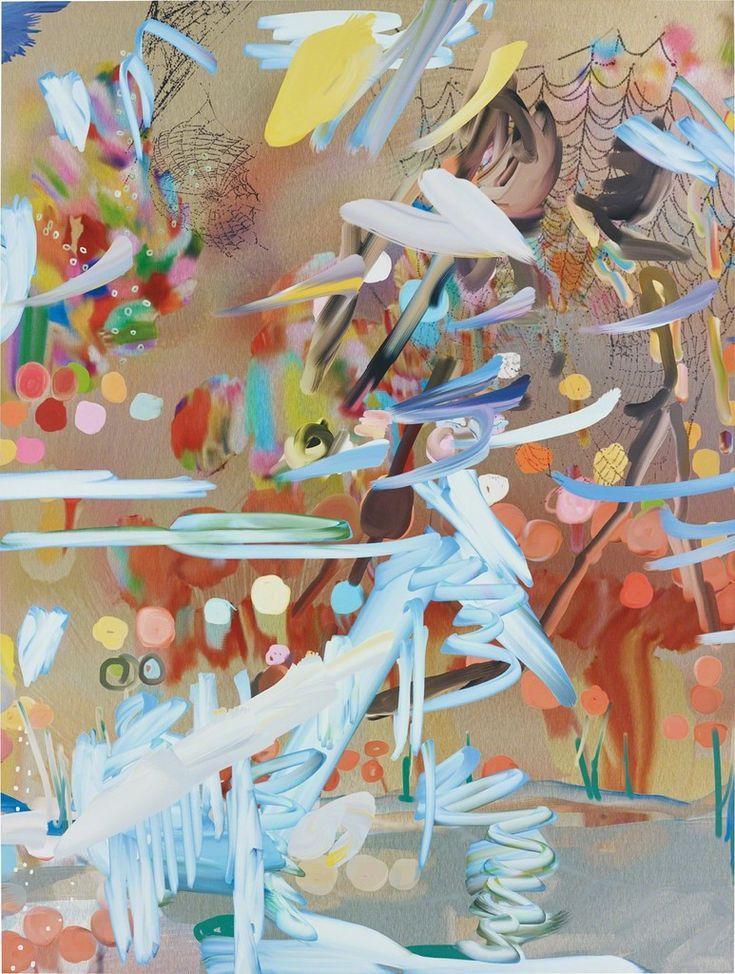 Petra Cortright, £11,000 (Philips 4/2017)  W9_krakow pajaki package crack panic attacks cheet codes/deer hunter cheetah, tarzan,   2014  Digital painting on aluminium  63 1/2 × 48 in  161.4 × 121.8 cm  Estimated value: £15,000–£20,000