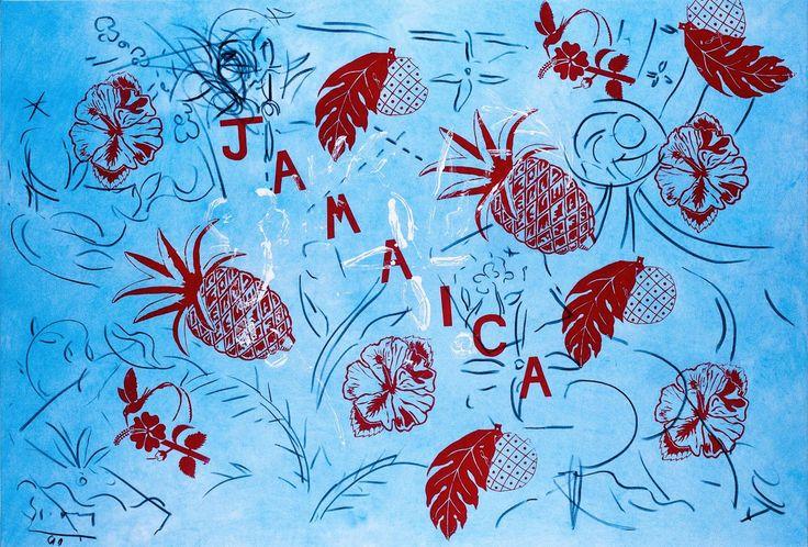 Stefan Szczesny, Flowers in blue mountains, 170 x 250 cm