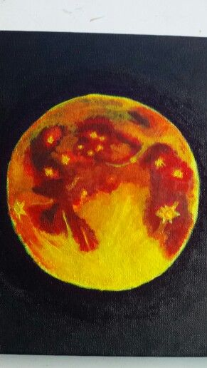 Blood moon painting.