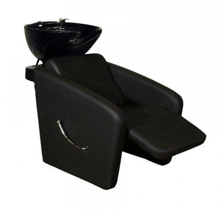 Nice Salon Furniture: Deco Bouvier Shampoo Chair Station U2014 Black With White Bowl Ideas