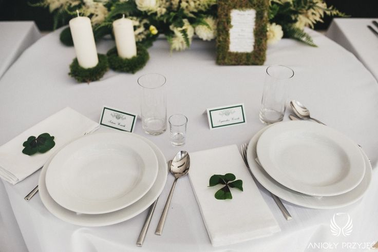 5. Irish theme Wedding,Table decor,Tablescape,Moss / Irlandzkie wesele,Dekoracja stołu,Mech,Anioły Przyjęć