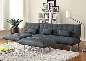 Grey Sofa Bed w/ Chaise, /category/living-room/grey-sofa-bed-w-chaise.html