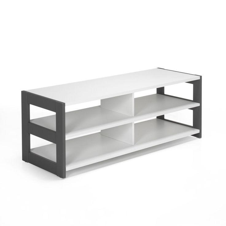 25 best ideas about meuble tv blanc on pinterest unit s - Mueble tele ikea ...