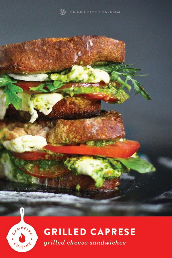 Put away the the hot dogs and beer and pair a Pinot Noir with these gourmet grilled cheese sandwiches stuffed with peppery arugula and creamy mozzarella.