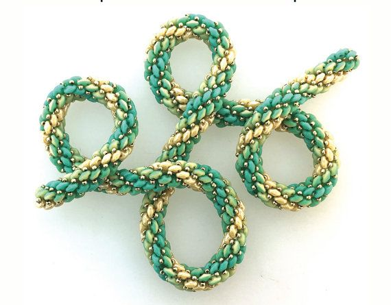 SuperDuo Duet Ombre Rope Tutorial by SoSassySusanSassoon on Etsy