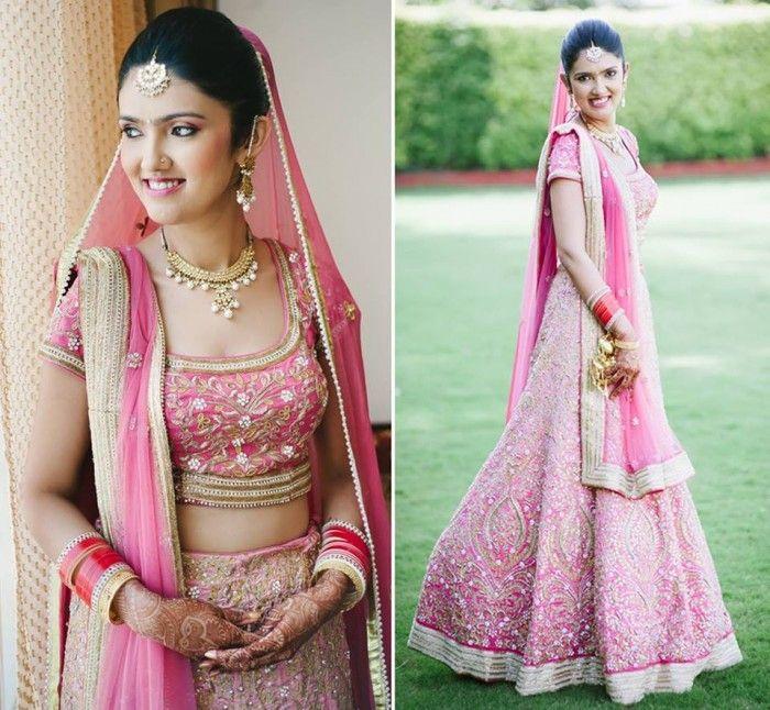 Wedding Color Pastel - Light Pink Bridal lehenga and saree   WedMeGood…