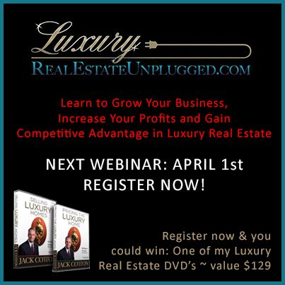 Have a Luxury #RealEstate question you'd like answered? Join us on April 1st for Luxury Real Estate Unplugged!