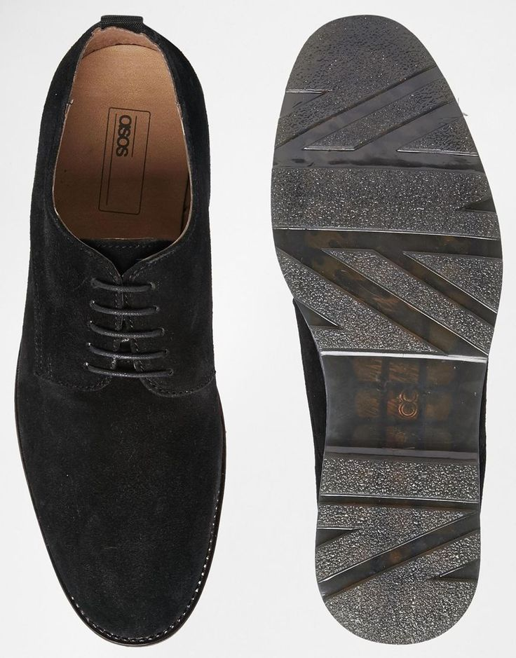 Image 3 ofASOS Derby Shoes in Suede