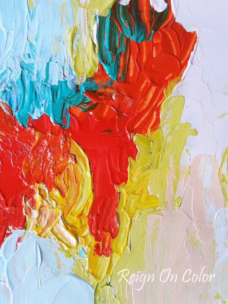 'Color Melt' Abstract Art By Aditi Sengupta.