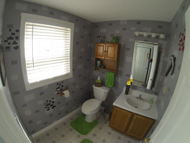 17 best images about minecraft on pinterest bingo for Bathroom designs minecraft