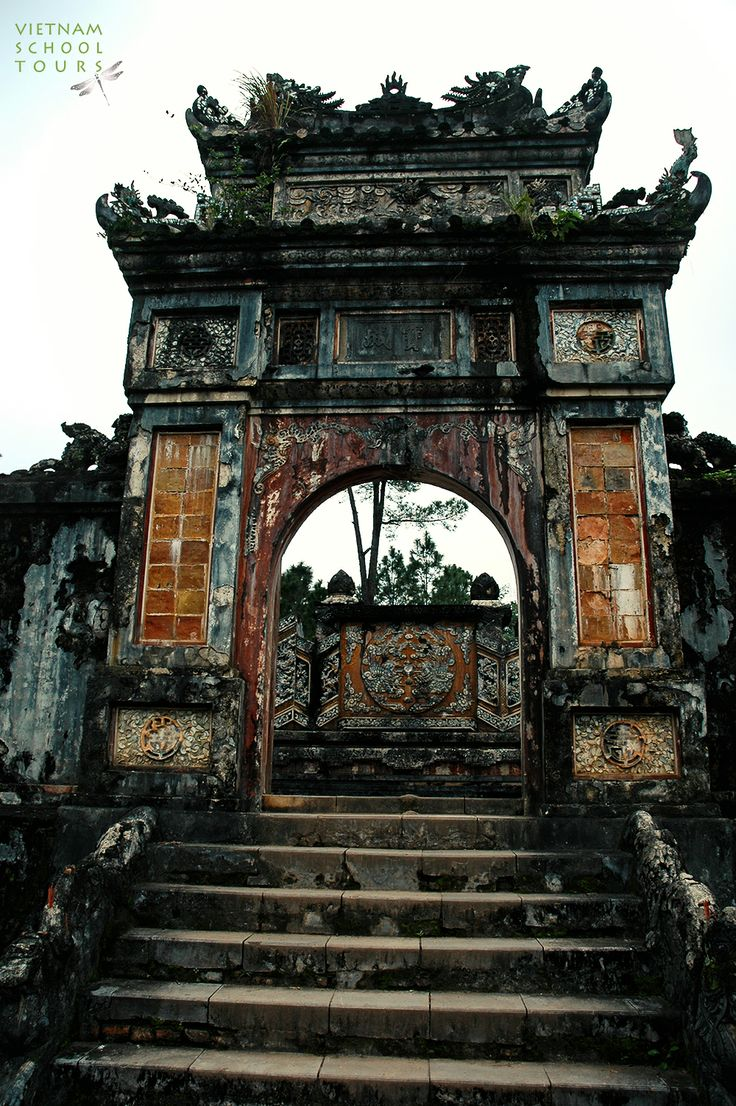 The entrance to Tu Duc tomb loceted