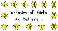 Articles of Faith Memorization Helps: Articles of Faith Punch Card