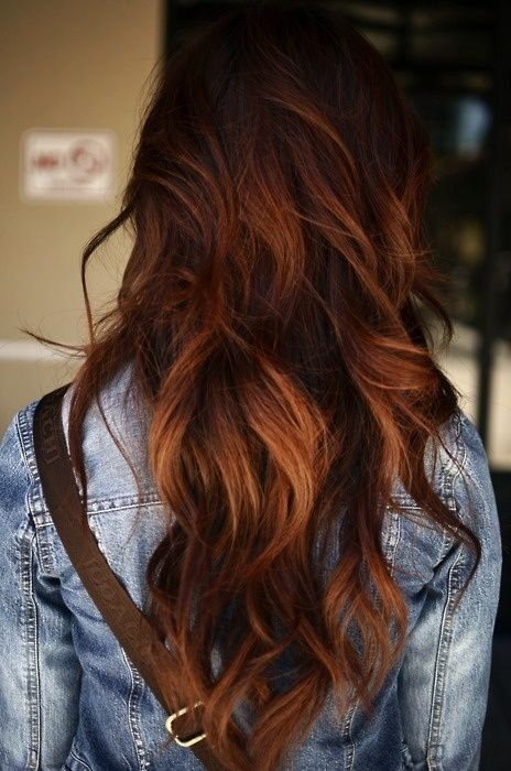 Auburn hair with highlights #redhair #illusionscolorspa #ombre