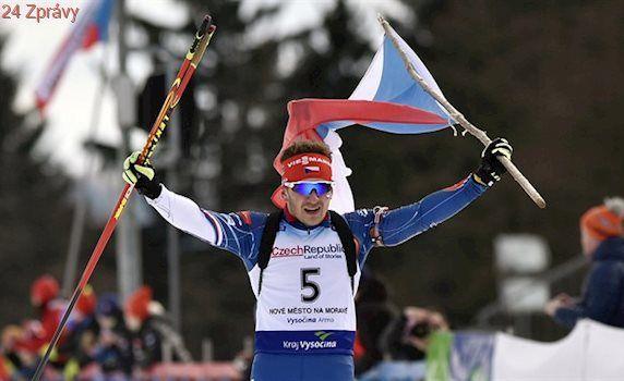 Skvostné stíhačky biatlonistů na MEJ, Davidová a Žemlička jsou šampiony