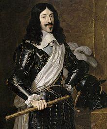 Louis XIII (le Juste) de BOURBON °1601 +1643 Dauphin de Viennois, Roi de France Ep.de Anne (Ana von Habsburg) d'AUTRICHE (ph.wikipedia) (Portrait du roi Louis XIII, par Champaigne).