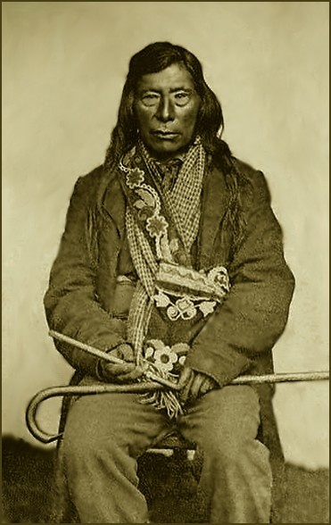 Nez Perce, Chief Lawyer 1796-1876. Photographed 1861.