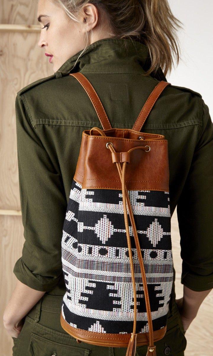 Black and white pattern bag
